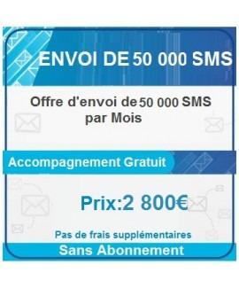 Envoi de 50 000 SMS par Mois