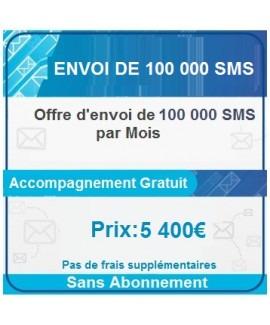Envoi de 100 000 SMS par Mois